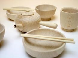 【木製ままごと】 お食事・急須セット|木遊舎(日本)