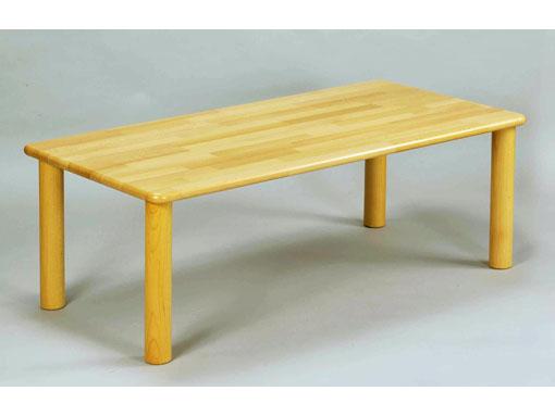【国産木製家具】角テーブル 120×60 丸脚〈H51〉 ブロック社(日本)