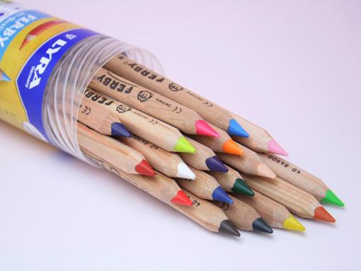 色鉛筆 ファルビー「18色セット」(白木)PPボックス入り