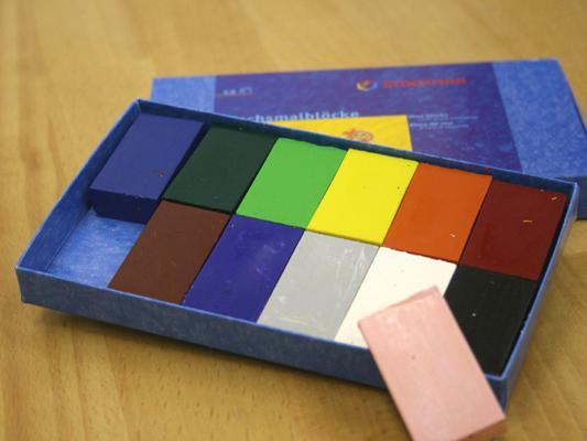 シュトックマー社|蜜ろうクレヨン ブロッククレヨン 12色紙箱入
