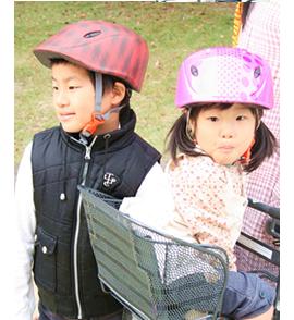 ヘルメット使用例