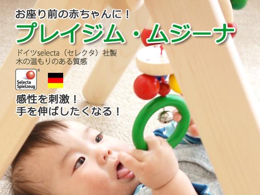 プレイジム・ムジーナ お座り前の赤ちゃんの感性を刺激!