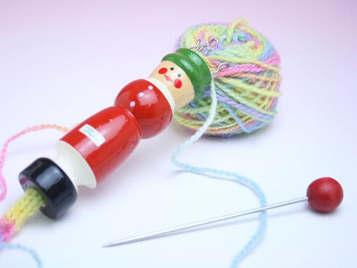 緑帽リリアン編みセット
