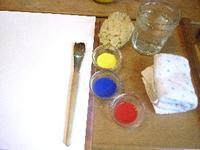 透明水彩の絵の具